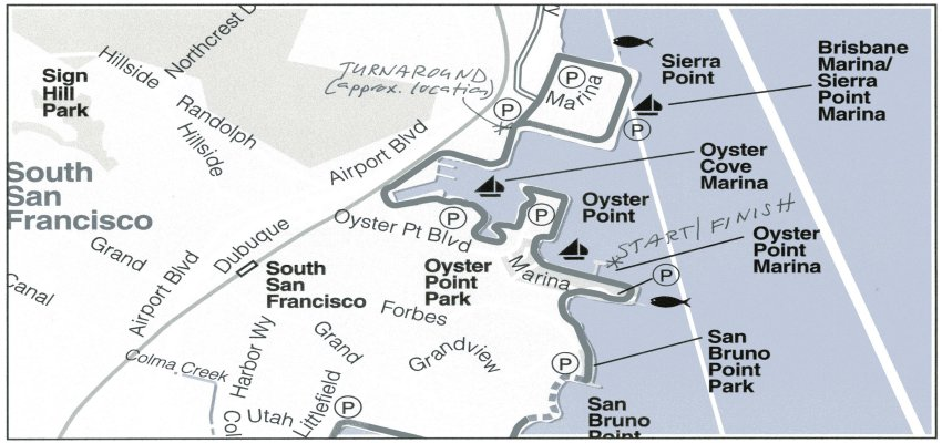 Oyster Point Course Map