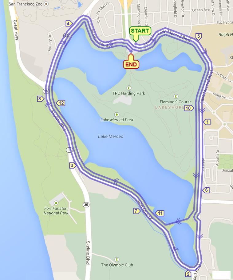 Lake Merced Half Marathon & 4.5 Mile Run @ Lake Merced | San Francisco | California | United States