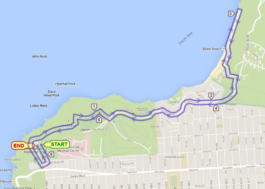 Golden Gate Bridge Vista 10K [Off-Road] @ USSSF Monument (NW parking lot) | San Francisco | California | United States