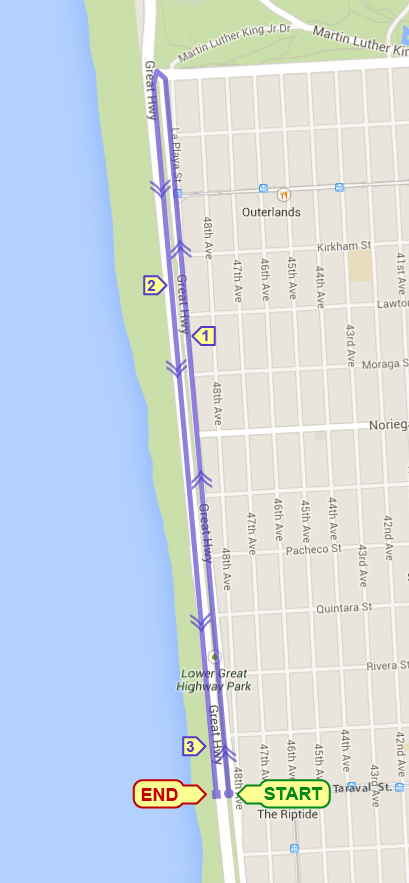 Great Highway 5K @ Taravel & Great Highway | San Francisco | California | United States