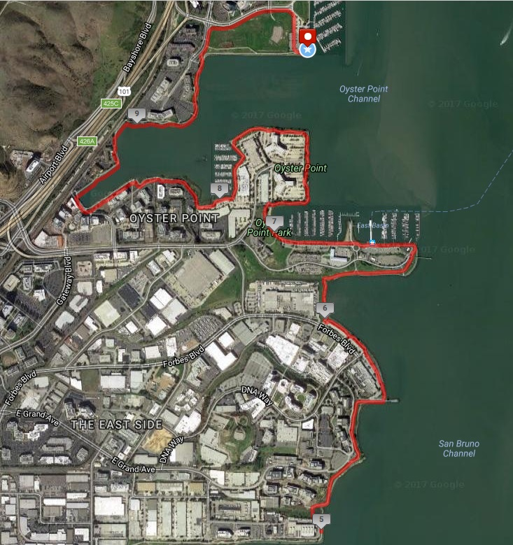 2018 Waterfront 10 race map