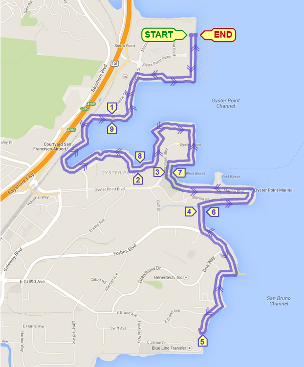Waterfront 10M & 5K @ Sierra Point Marina | Brisbane | California | United States