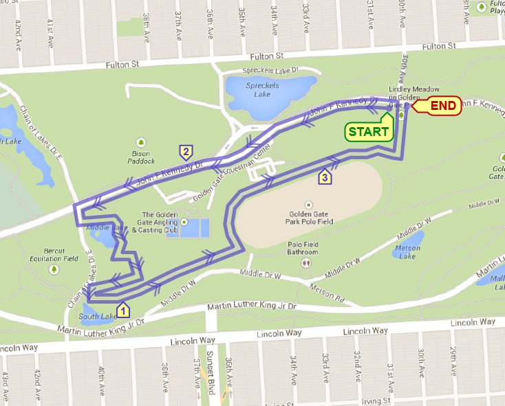 Lindley Meadow XC 5K [Off-Road] @ 30th Avenue/Kennedy Drive, GGP | San Francisco | California | United States