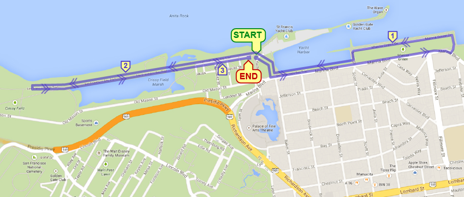 Marina Green 5K @ S/F Yacht Harbor Parking Lot (Little Marina Green) | San Francisco | California | United States